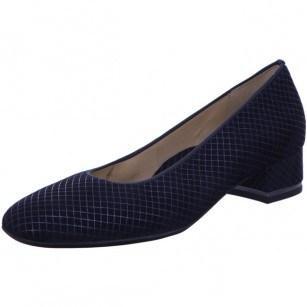 Дамски обувки Ara естествена кожа High Soft ширина H сини