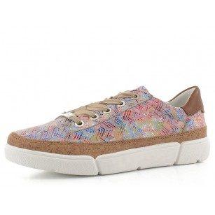 Дамски  спортни обувки Ara естествена кожа High Soft цветни