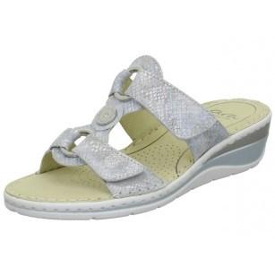 Дамски чехли Ara естествена кожа High Soft сиви