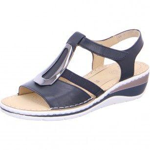 Дамски сандали на платформа Ara естествена кожа High Soft сини