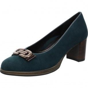 Дамски обувки Ara High Soft естествена кожа сини ширина Н