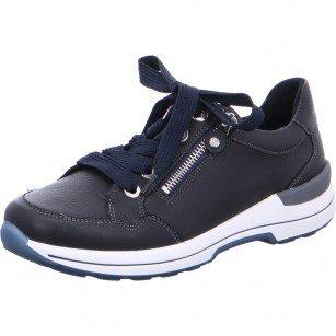 Дамски анатомични спортни обувки Ara естествена кожа ширина H сини