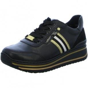 Дамски анатомични спортни обувки Ara естествена кожа ширина H черни