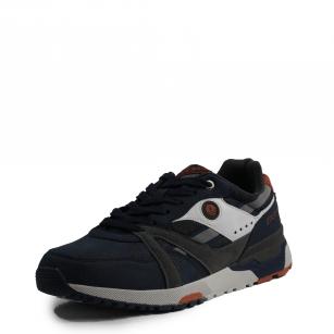 Мъжки спортни обувки с връзки В.Basile  тъмно сини