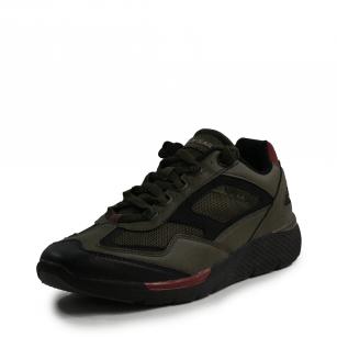Мъжки спортни обувки с връзки В.Basile  маслено зелено