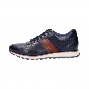 Мъжки спортно-елегантни обувки Bugatti Cirino тъмно сини Soft Fit