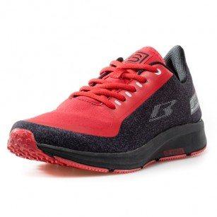 Мъжки обувки с връзки Bulldozer черни/червени