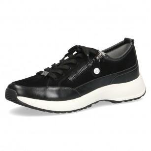 Дамски спортни обувки Caprice CLIMOTION® естествена кожа черни