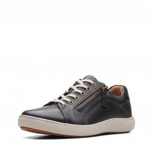 Дамски обувки естествена кожа Clarks Nalle Lace Black черни с връзки