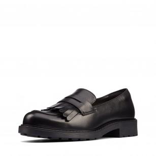 Дамски обувки Clarks Orinoco 2 Loafer естествена кожа черни