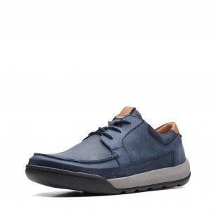 Мъжки обувки Clarks Ashcombe Craft естественa кожа сини