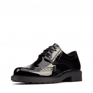 Дамски обувки с връзки Clarks Orinoco2 Limit естествена кожа черни