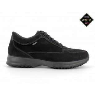 Мъжки ежедневни обувки IGI & CO естествен велур GORE-TEX® НЕПРОМОКАЕМИ черни