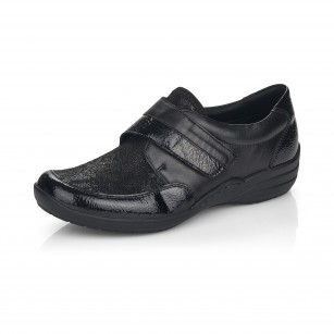 Дамски обувки Remonte естествена кожа ширина H черни R7600-02