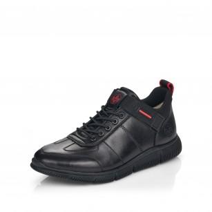 Мъжки спортни обувки естествена кожа Rieker Antistress B0434-00 черни