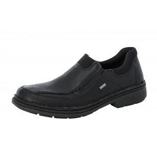 Мъжки ежедневни обувки без връзки естествена кожа Rieker 05051-00 Extra Wide черни