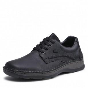 Мъжки обувки с връзки естествена кожа Rieker Antistress ширина H черни 05310-00