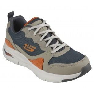 Мъжки спортни обувки Skechers Arch Fit мемори пяна бежови