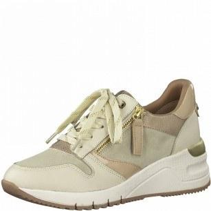 Дамски спортни обувки Tamaris на платформа Comfort Line бежови