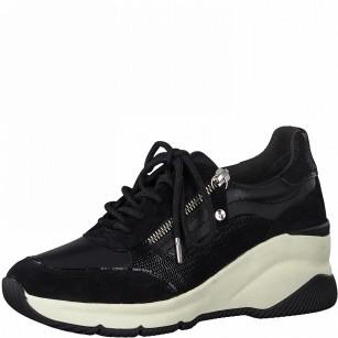 Дамски спортни обувки Tamaris на платформа Comfort Line черни