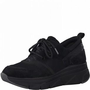 Дамски спортни обувки с връзки Tamaris черни