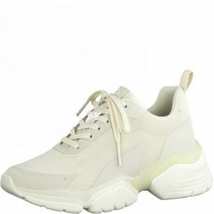 Дамски спортни обувки Tamaris Fashletics с връзки бежови