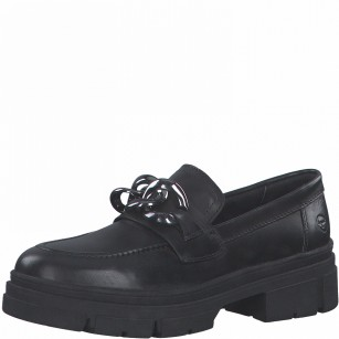 Дамски ежедневни обувки Tamaris естествена кожа Touch It черни