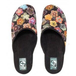 Дамски домашни чехли Adanex BIO цветни