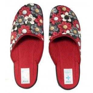 Дамски домашни чехли Adanex BIO червени