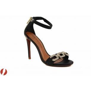 Елегантни дамски сандали на висок ток Carrano черни 12320201