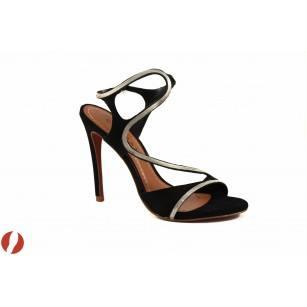 Елегантни дамски сандали на висок ток Carrano черни 12320901