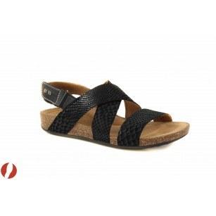 Дамски сандали на равно ходило черни Clarks Perri Dunes 26105888