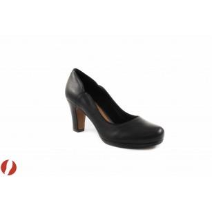 Дамски обувки на среден ток Clarks Chorus Nights 26105931