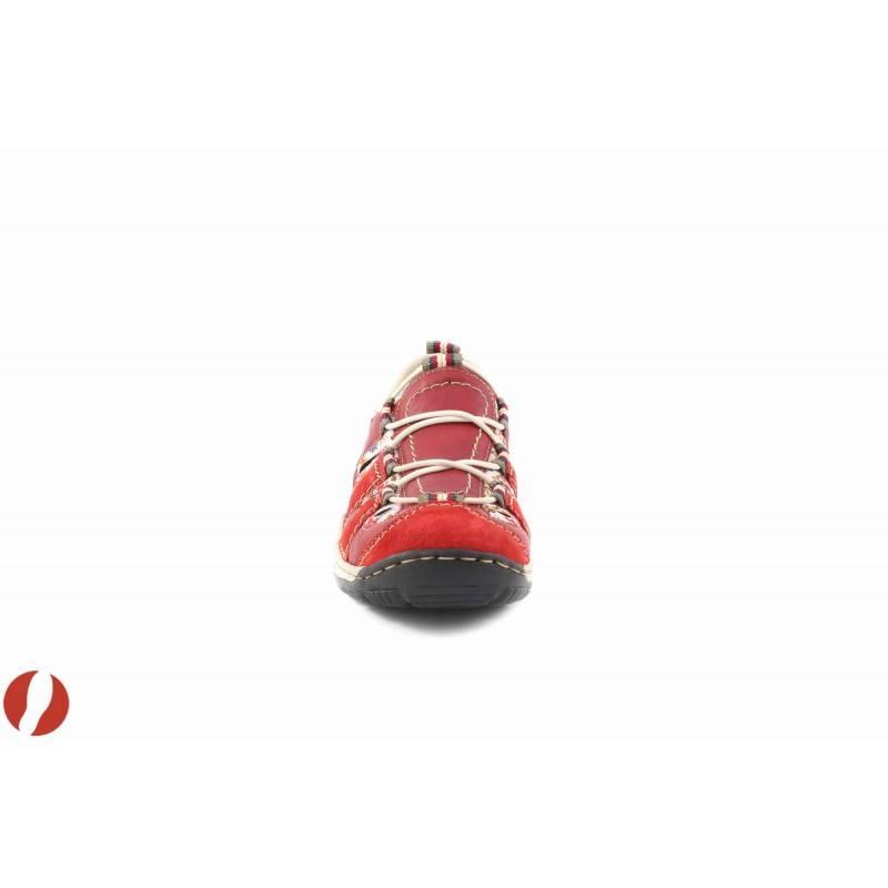 Дамски червени маратонки Rieker 055633