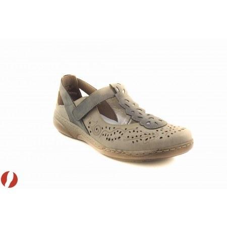 Дамски обувки на равно ходило Rieker бежови 4615565