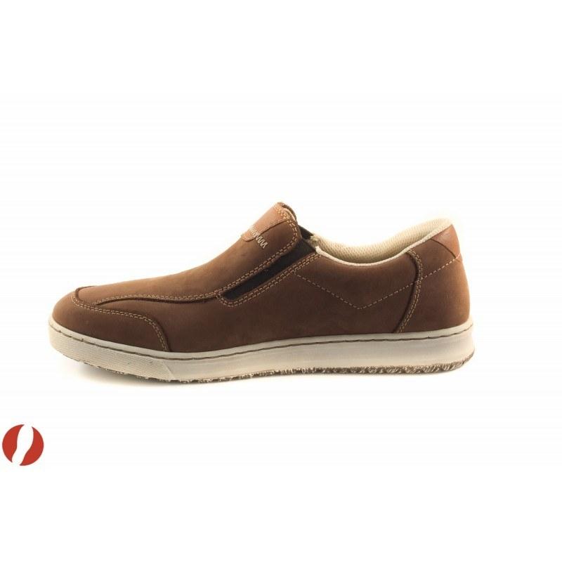Мъжки обувки мокасини кафяви Rieker 3062254