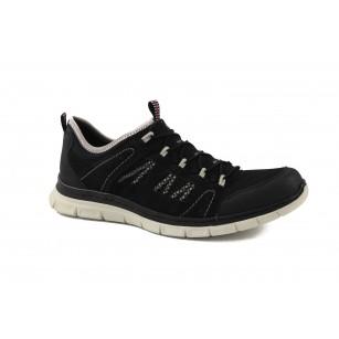 Мъжки маратонки без връзки Rieker Memosoft черни 488300