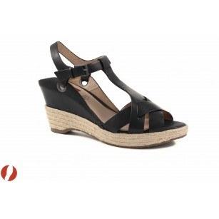 Дамски сандали на платформа черни S.Oliver еспадрил 28320001