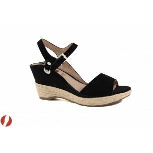 Дамски сандали на платформа черни S.Oliver еспадрил