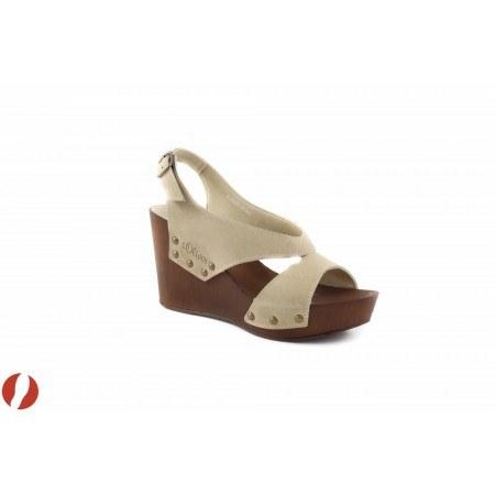 Дамски сандали на платформа бежови S.Oliver 28326341