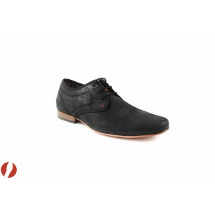 Mъжки кожени обувки черни S.Oliver 13205001
