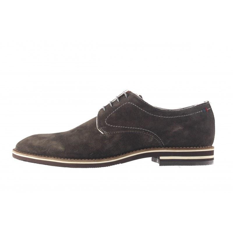 Мъжки кожени обувки с връзки кафе Salamander 5730121