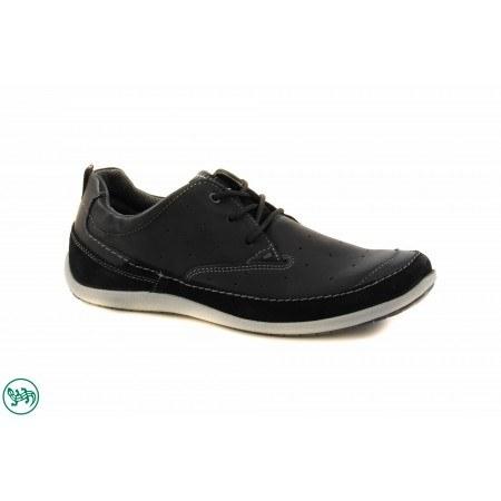 Мъжки спортни обувки с връзки Salamander черни 6520101