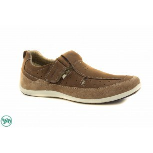 Mъжки спортни обувки с лепки Salamander бежови 6520314