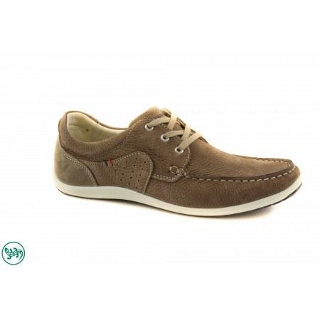 Мъжки кожени обувки мокасин Salamander бежови 6520517