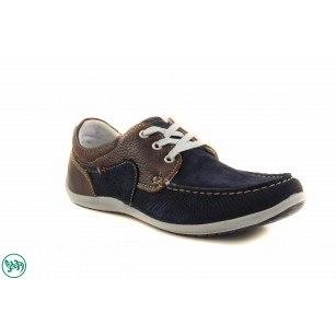 Мъжки спортни обувки мокасин Salamander син/кафяв 6520542