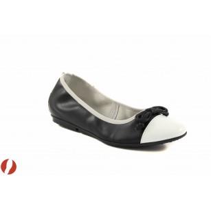 Дамски обувки балерина Tamaris черен/бял 22109005