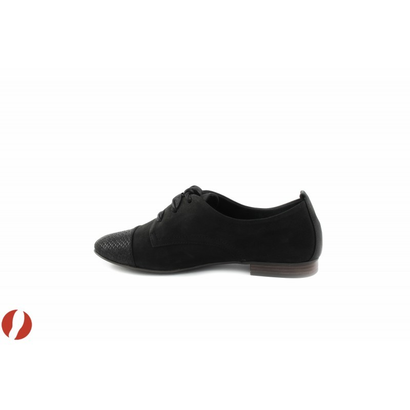Дамски обувки с връзки черни Tamaris 23202010