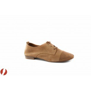 Дамски обувки с връзки кафе Tamaris