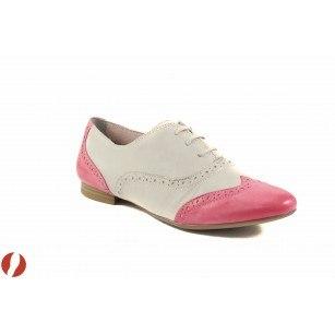 Дамски обувки с връзки бежови/розови Tamaris Oxford Ballroom